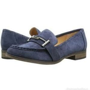 Franco Sarto Baylor Suede Leather Loafers Navy